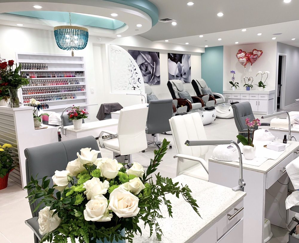 The Nail Bar's Beautiful Interior in Los Altos, California
